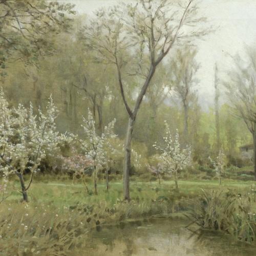 Joaquim Vayreda - Arbres en flor - 1892