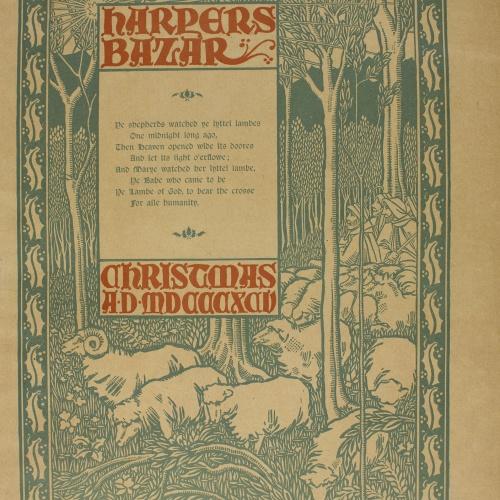 William Henry Bradley - Harper's Bazar Christmas AD MDCCCXCV - 1895