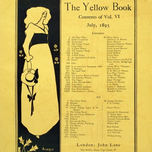 Aubrey Vincent Beardsley - The Yellow Book. Contents of Vol. VI - 1895