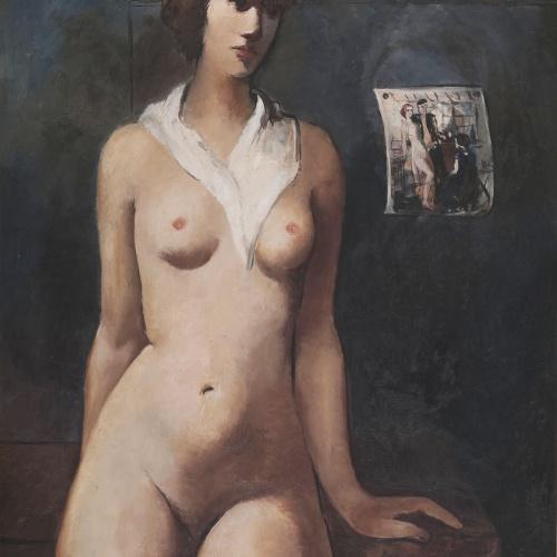 Pere Pruna - La noia del mocador blanc - Cap a 1930