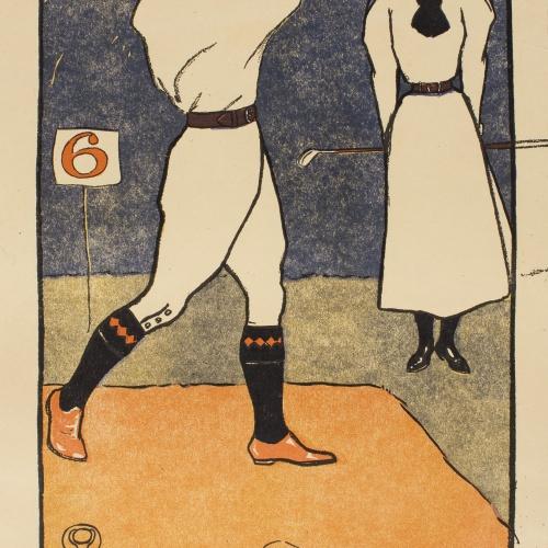 Edward Penfield - August (Golf Calendar) - 1899