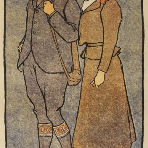 Edward Penfield - November, December (Golf Calendar) - 1899