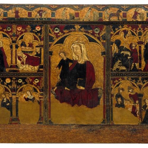 Anònim. Navarra - Frontal de la infància de Jesús - Segon quart del segle XIV