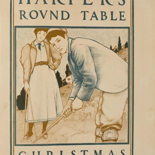 Maxfield Parrish - Harper's Round Table. Christmas - Circa 1890-1910
