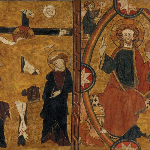Anònim. Castella - Calvari i Crist en Majestat - Cap a 1295
