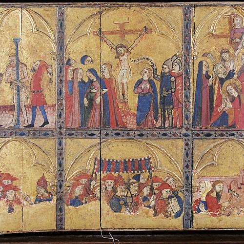 Anònim - Panel of the Passion and Eucharist - Second half of the 14th century