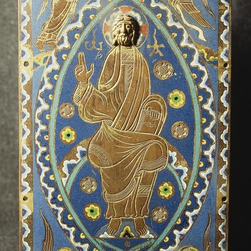 Anònim - Placa d'enquadernació: Crist en Majestat - Llemotges, cap a 1210