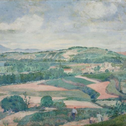 Xavier Nogués - Paisatge de Banyoles - 1921