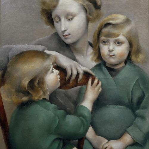 Josep de Togores - Dona i els seus fills - París, 1923