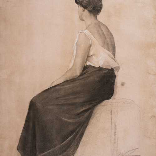 Josep Llimona - Dona asseguda - 1900