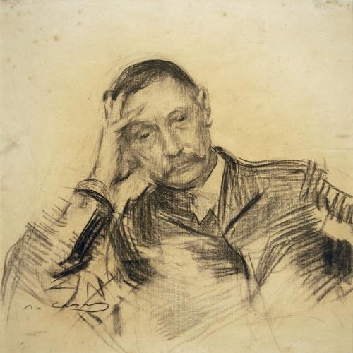 Ramon Casas - Portrait of Benito Pérez Galdós - Circa 1903