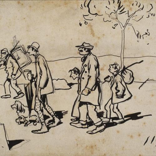 Ramon Casas - Acrobats - Circa 1892
