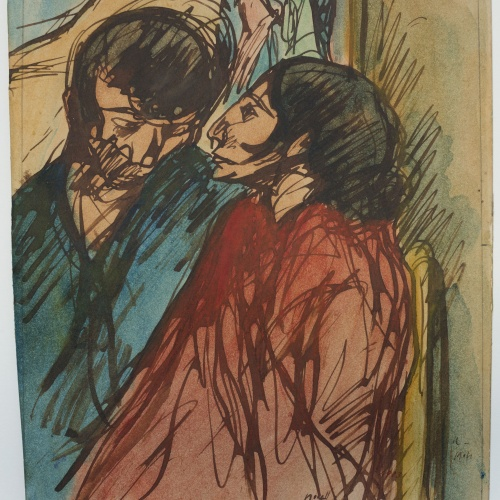 Isidre Nonell - Parella de gitanos - 1904