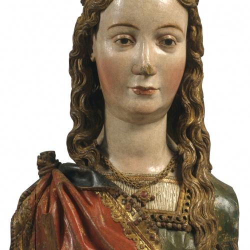 Anònim. Països Baixos meridionals. Taller de Brabant - Bust reliquiari d'una santa verge - Entre 1520-1530