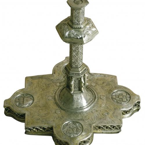 Anònim. Catalunya. Lleida - Base del vas litúrgic de Ferrer Colom, bisbe de Lleida (1334-1340) - Entre 1323-1334