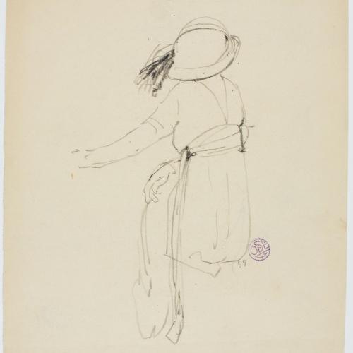 Francesc Xavier Gosé - Lady from behind - Circa 1910