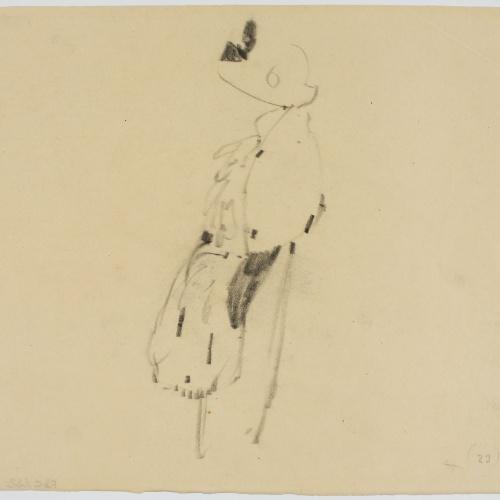 Francesc Xavier Gosé - Lady in profile - Circa 1910