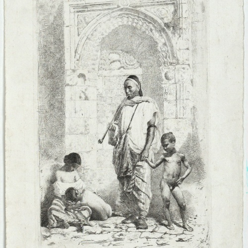 Marià Fortuny - Moroccan family - 1862