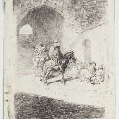 Marià Fortuny - Kasbah Guard in Tetouan - Circa 1861