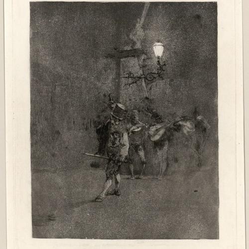 Marià Fortuny - Night watch - Circa 1863-1865
