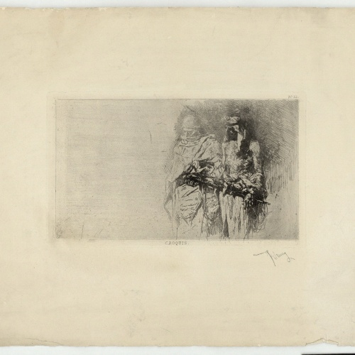 Marià Fortuny - Rough sketch (Moroccans) - Circa 1860-1862