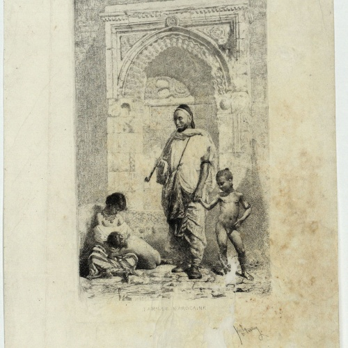 Marià Fortuny - Famille marocaine (Moroccan Family) - 1862