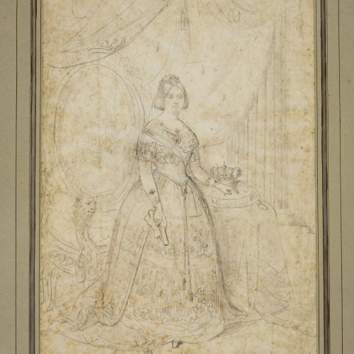Marià Fortuny - Retrato de Isabel II - 1855