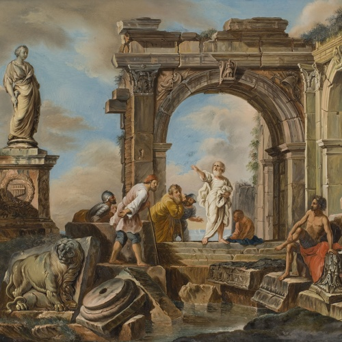 Anònim. Itàlia - Preaching Among Ruins - Last quarter of the 18th century