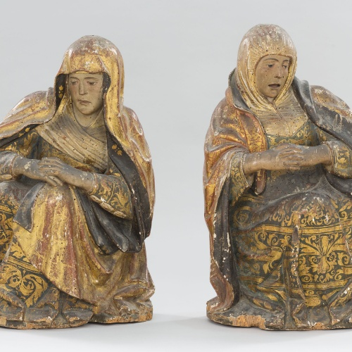 Anònim. Aragó - Figures femenines d'un Sant Sepulcre - Entre 1520-1530