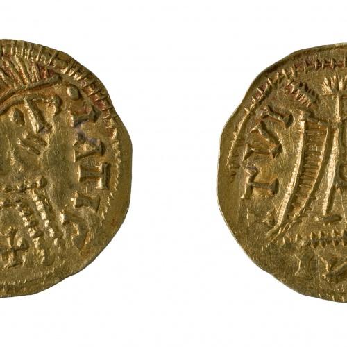 A nom de Justí II - Tremissis d'imitació - 567-586