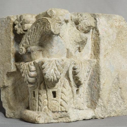 Anònim - Capitell d'una porta de Sant Pere de les Puel·les - Finals del segle XII