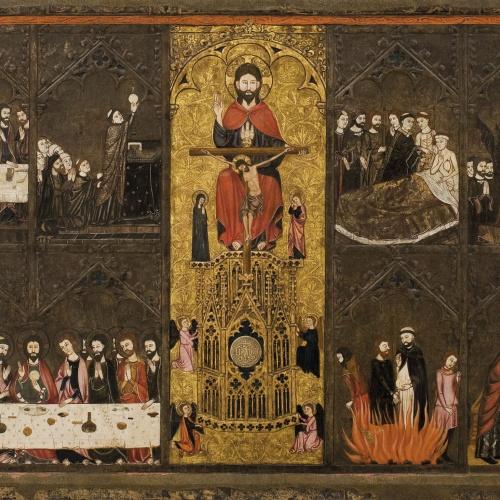 Mestre de Vallbona de les Monges (Guillem Seguer ?) - Retaule del Corpus Christi - Cap a 1335-1345