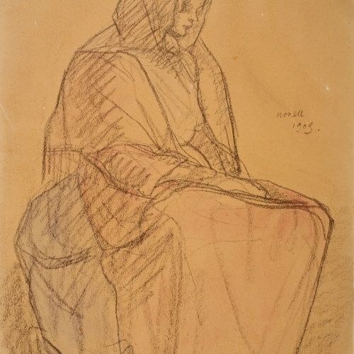 Isidre Nonell - Woman seated - 1909