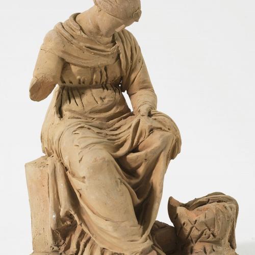 Damià Campeny - Dona cosint - Cap a 1815-1840