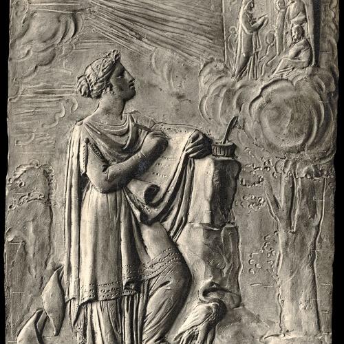 Damià Campeny - La Fama escrivint la història de Crist: Jesús al Temple - Cap a 1816