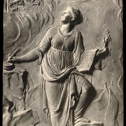 Damià Campeny - La Fama escrivint la història de Crist: La Nativitat - Cap a 1816