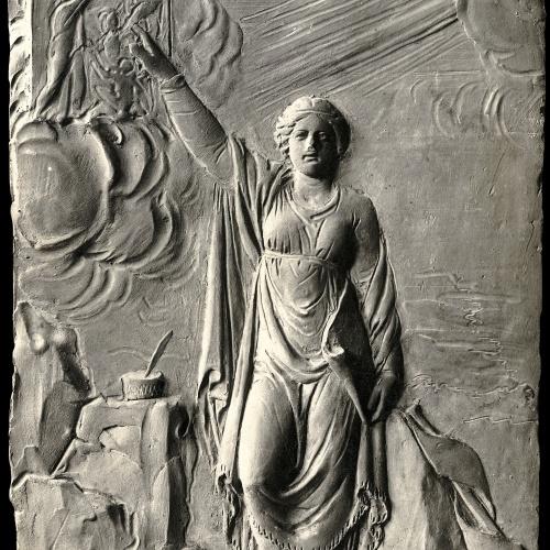 Damià Campeny - La Fama escrivint la història de Crist: Jesús predicant - Cap a 1816