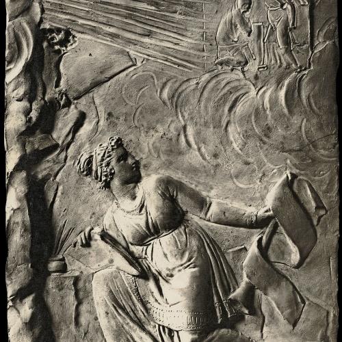 Damià Campeny - La Fama escrivint la història de Crist: L'Anunciació - Cap a 1816