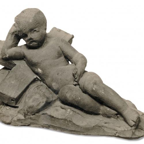 Damià Campeny - Infant nu ajagut damunt una creu - Cap a 1815-1840