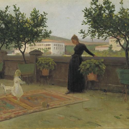 Joaquim Vayreda - La terrassa - Cap a 1891