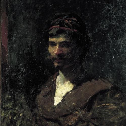 Marià Fortuny - Bust d'home. Al·legoria de Bacus - Cap a 1868