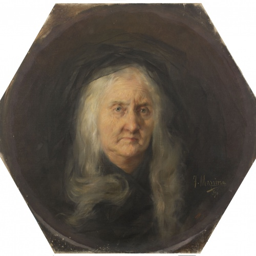 Francesc Masriera - Portrait of Senyora Montaner, mother-in-law of the artist - 1896