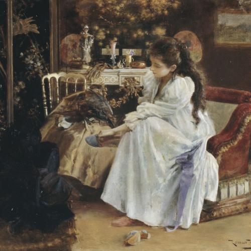 Romà Ribera - De soirée - Barcelona, cap a 1894