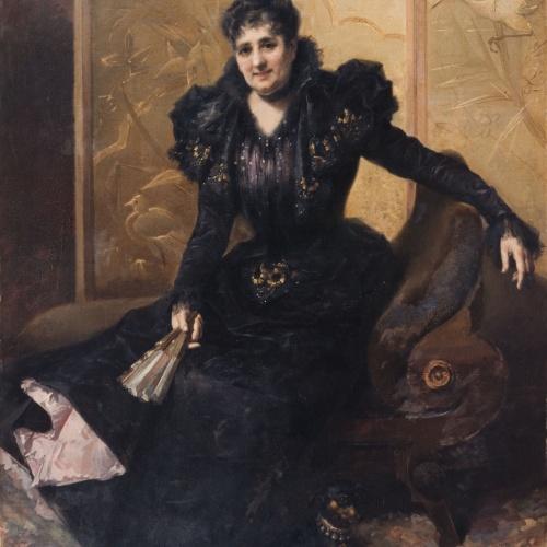 Francesc Masriera - Portrait of My Wife - 1898