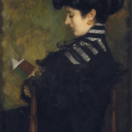 Sebastià Junyent - Mujer leyendo - 1904