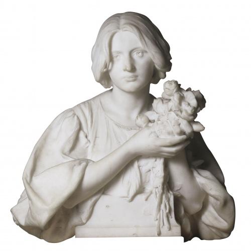Miquel Blay - Dona i flors - 1899