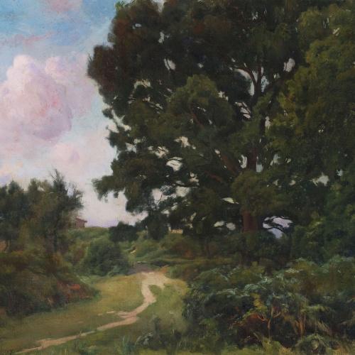Enric Galwey - Capvespre en una pineda - 1896