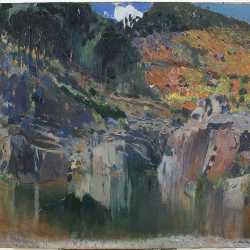 Joaquim Mir - The Pool at La Trona (Siurana, El Priorat) - Circa 1907-1914