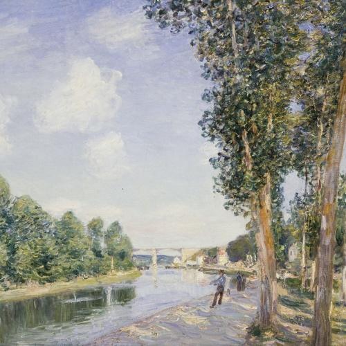 Alfred Sisley - El tombant del Loing - 1892