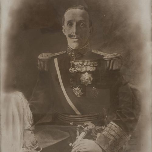Napoleón. Establecimiento de daguerrotipo y fotografía. Barcelona - Retrat del rei Alfons XIII - Entre 1902-1931